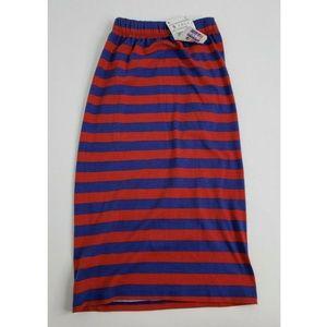 Zara Colorful Trafaluc Red Blue Striped Straight S